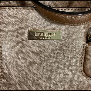 Kate Spade Rose Gold Leather Tote Crossbody Purse